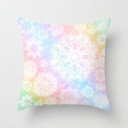 Aurora Frost Throw Pillow