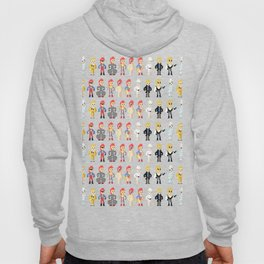 Bowie pixel characters Hoody