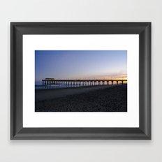 Sunset at Tybee Island Pier Framed Art Print