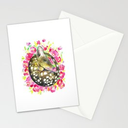 Sleepy baby quoll Stationery Cards