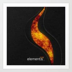 elements | fire Art Print