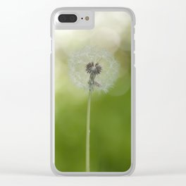 Dandelion in LOVE- Flower Floral Flowers Spring Clear iPhone Case