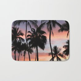 Tropical Palm Trees Sunset in Mexico Bath Mat
