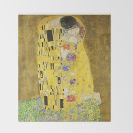 The Kiss - Gustav Klimt, 1907 Throw Blanket