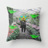 botanical Throw Pillows featuring botanical  by Mike McDonnell