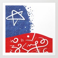 """chile Art Prints featuring """"CHILE"""" by Alejandro Mamán Pires"""