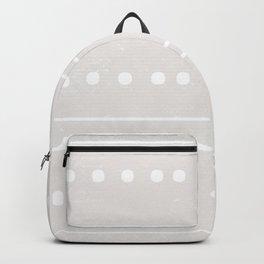 Minimal Geometric Stone Pattern Backpack