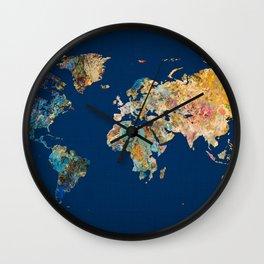 World Map 11 Wall Clock
