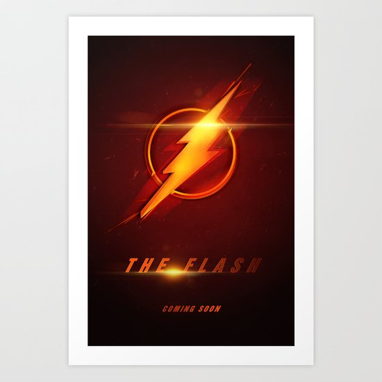 The Flash Movie Poster Art Print