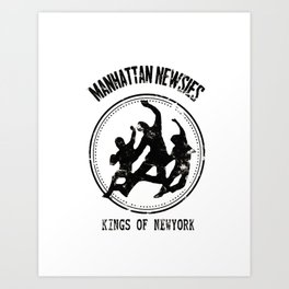 manhattan newsies Art Print