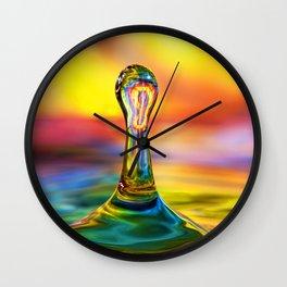 Tie Dye Water Drop Wall Clock