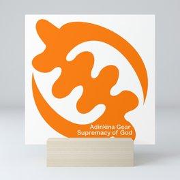 Supremacy of God in Orange Mini Art Print