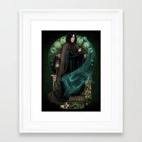 snape Framed Art Prints featuring Always by Megan Lara