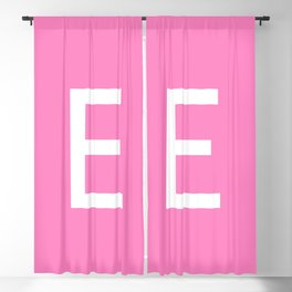 LETTER E (WHITE-PINK) Blackout Curtain