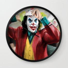 Joker Watercolor Painting Wall Clock