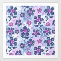 flowers mix Art Print