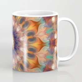 Flower 0009 Orange + Blue  Coffee Mug