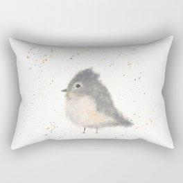 Whimsical Tufted Titmouse Rectangular Pillow