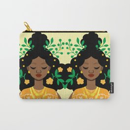 Opulence in Orange Carry-All Pouch