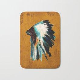 Native Headdress Orange Edit Bath Mat