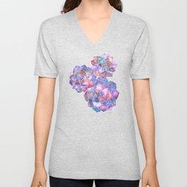 Rosette Succulents – Galaxy Palette Unisex V-Neck