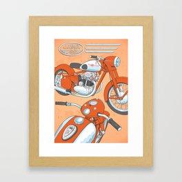 Retro bike JAWA Framed Art Print