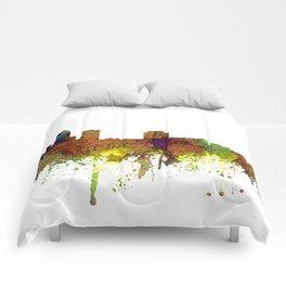 Des Moines, Iowa Skyline SG - Safari Buff Comforters