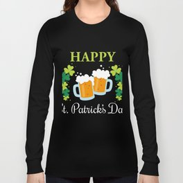 Patrick's Day Gift. Shirt For Beer Lover Long Sleeve T-shirt