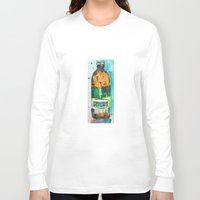 ale giorgini Long Sleeve T-shirts featuring Genesee Cream Ale by Dorrie Rifkin Watercolors