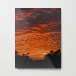 Texas Red Sky Metal Print