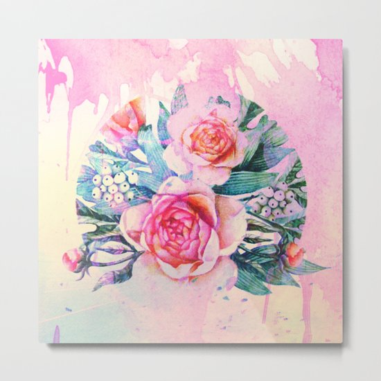 bouquet and watercolors Metal Print