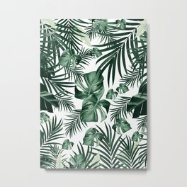 Tropical Jungle Leaves Pattern #4 (2020 Edition) #tropical #decor #art #society6 Metal Print