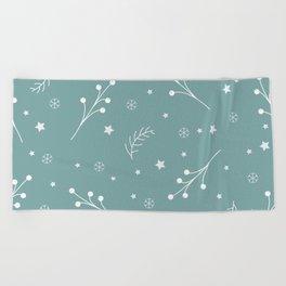 Winter Pattern Beach Towel