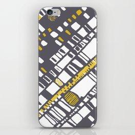 Diagonal layers yellow iPhone Skin