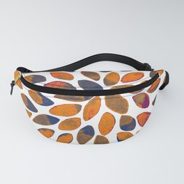 Watercolor brush strokes - rusty effect Fanny Pack