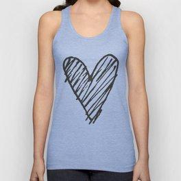 Ink hearts pattern 2 Unisex Tank Top