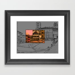 Piazza Grande Framed Art Print