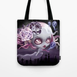 Ghostly Luna Tote Bag