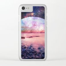 Mystic Lake : Fantasy Moon Landscape Clear iPhone Case
