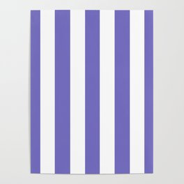 Toolbox violet - solid color - white vertical lines pattern Poster