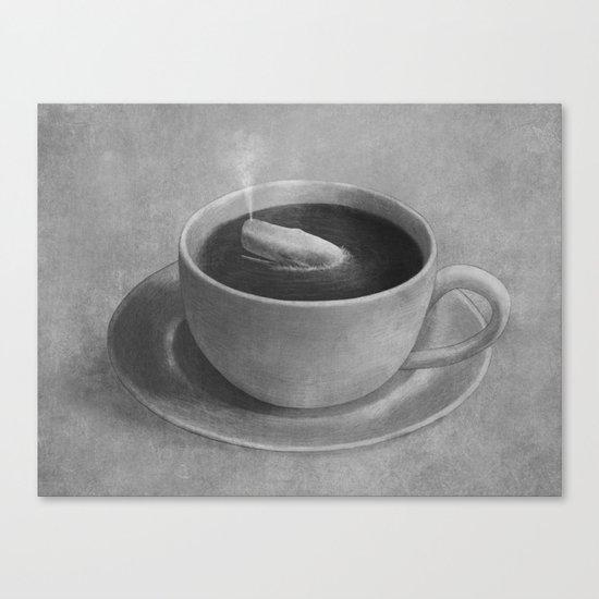 Whale in a tea cup  Canvas Print