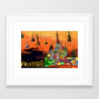 moscow Framed Art Prints featuring Moscow  by sladja