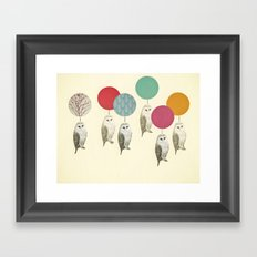 Balloon Landing Framed Art Print