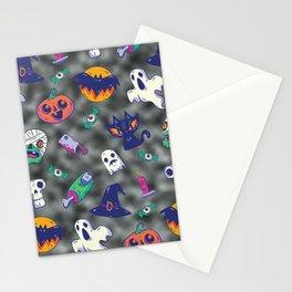 black glitter halloween pattern. Stationery Cards
