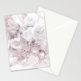 Lavender Watercolor Floral Rose Print Stationery Cards