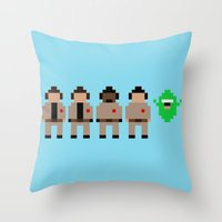 ghostbusters Throw Pillows featuring Ghostbusters by Pixel Icons