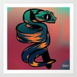 8USH ViPER Art Print