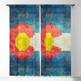 Colorado State flag, Vintage retro style Blackout Curtain