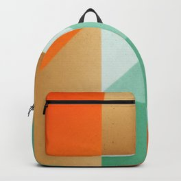 Abstract art - Color pattern 3 - green, orange , gold Backpack
