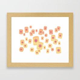 Lost Princess Lanterns Framed Art Print